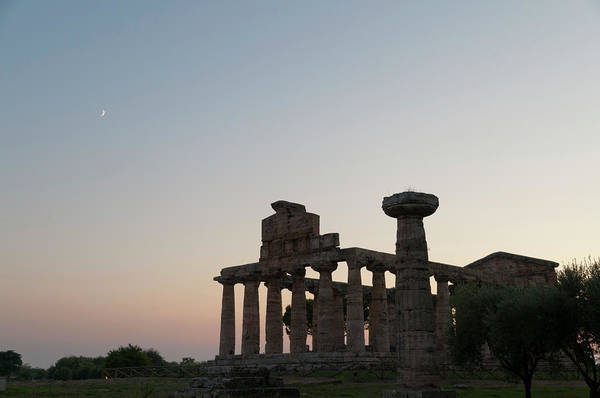 Ancient Greek Photograph - Ancient Greek Temple In Paestum, Italy by Stuart Mccall