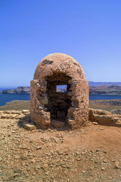Photograph - Ancient Gun Turret On Imeri Gramvousa by Sun Travels
