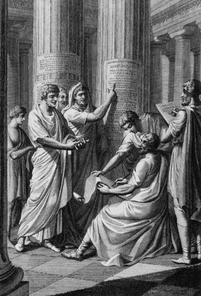 Ancient Greek Photograph - Ancient Law by Archive Photos