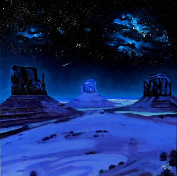 Star Formation Painting - Ancient Monuments by Rachel Beck