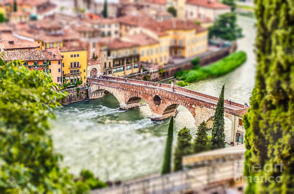 Riverside Wall Art - Photograph - Ancient Roman Bridge Called Ponte Di by Marco Rubino