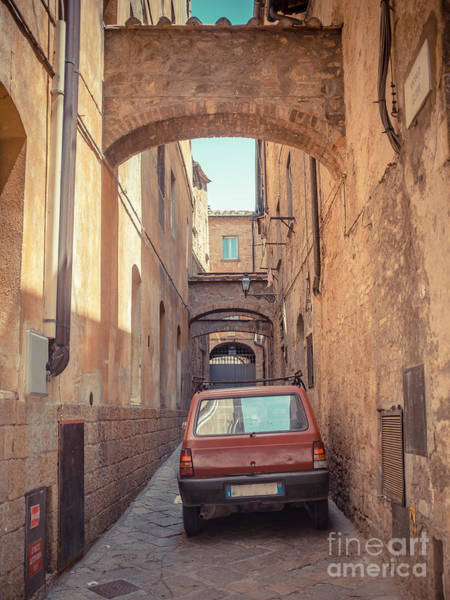 Photograph - Ancient Streets Of The Hill Town Volterra Italy by Edward Fielding
