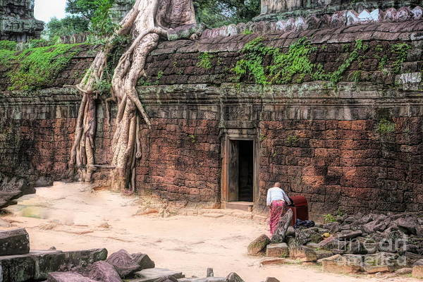 Wall Art - Photograph - Ancient Ta Prohm Temple Cambodia  by Chuck Kuhn