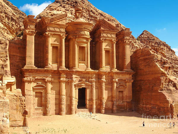 Monastery Wall Art - Photograph - Ancient Temple In Petra, Jordan by Silky