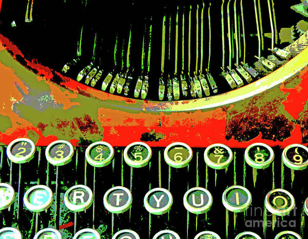 Wall Art - Mixed Media - Ancient Typewriter 300 by Sharon Williams Eng