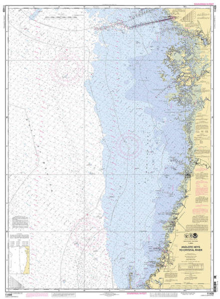 Digital Art - Anclote Keys To Crystal River Noaa Nautical Chart 11409 by Paul and Janice Russell