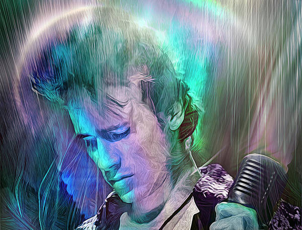Jeff Buckley Wall Art - Mixed Media - And Blow Your Kiss Hello To Life Eternal, Angel by Mal Bray
