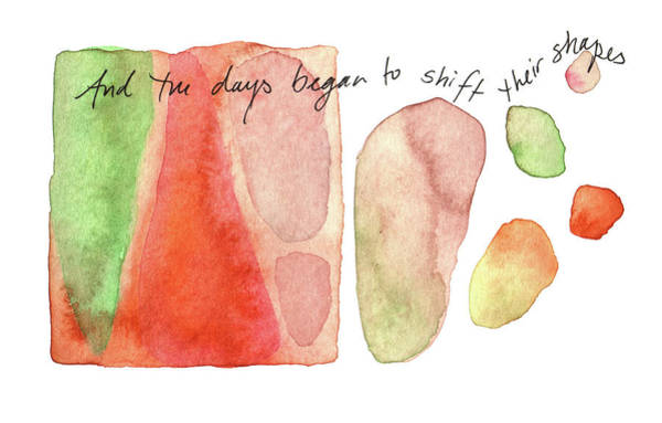 Painting - And The Days Begain To Shift Their Shapes. by Anna Elkins