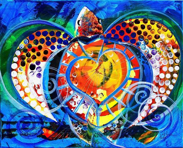 Painting - And The Sea Turtle Had A Heart by J Vincent Scarpace