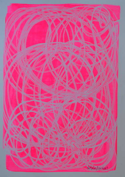 Avondet Wall Art - Mixed Media - And Then There Was Pink by Natalie Avondet