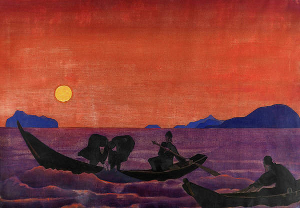 Wall Art - Painting - And We Continue Fishing From, The Series Sancta, 1922 by Nicholas Roerich