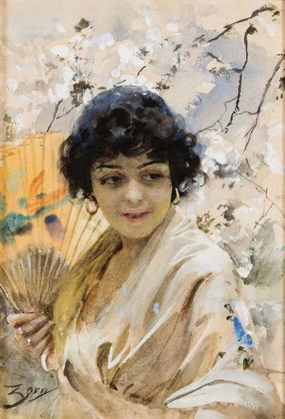 Wall Art - Painting - Anders Zorn 1860-1920 Spanjorska With Solar Spring by Anders Zorn