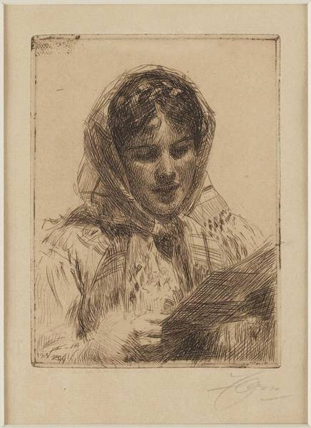 Wall Art - Painting - Anders Zorn,  Female by Anders Zorn
