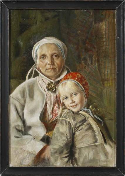 Wall Art - Painting - Anders Zorn,  Mother And Daughter by Anders Zorn