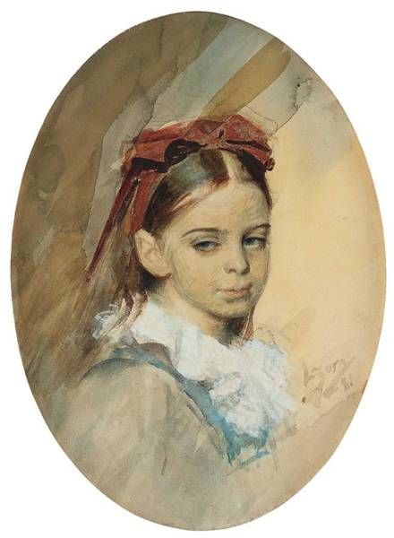 Wall Art - Painting - Anders Zorn, Portrait Of A Girl by Anders Zorn