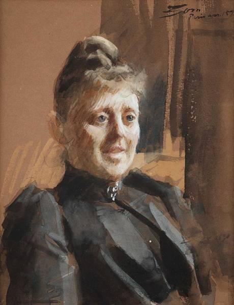 Wall Art - Painting - Anders Zorn, Portrait Of Mrs Milda Klingspor, Born Weber 1864-192 by Anders Zorn