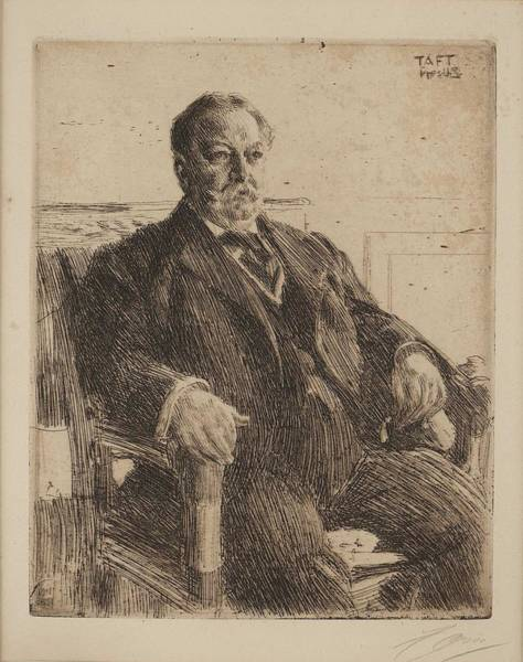 Wall Art - Painting - Anders Zorn,  President William H. Taft by Anders Zorn