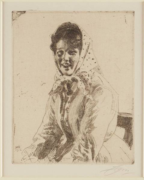 Wall Art - Painting - Anders Zorn,  Woman by Anders Zorn