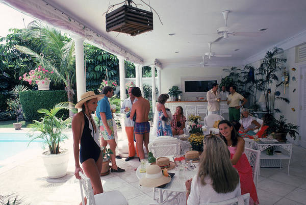 Sun Hat Photograph - Anderson Chez Gillet by Slim Aarons