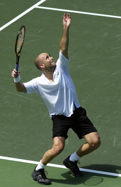 Gulf State Park Photograph - Andre Agassi Of The Usa by Clive Brunskill