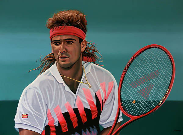 Painting - Andre Agassi Painting by Paul Meijering