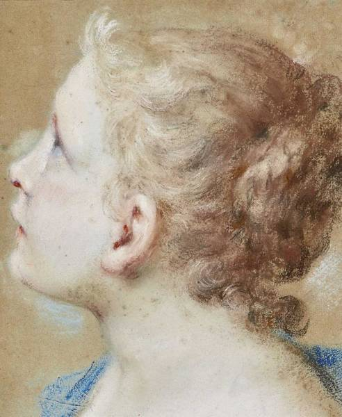 Wall Art - Painting - Andrea Casali Head Of A Young Girl In Profile by Celestial Images
