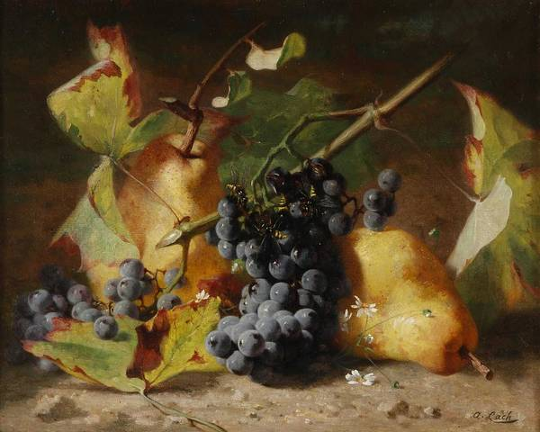 Wall Art - Painting - Andreas Lach Fruit Still Life by Andreas Lach