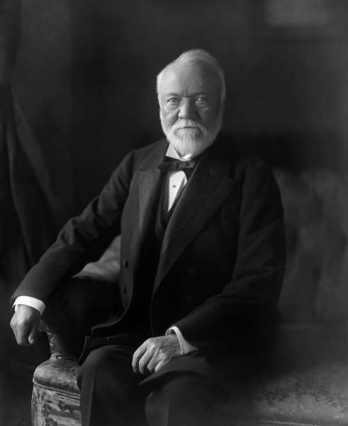 Wall Art - Photograph - Andrew Carnegie Portrait - 1905 by War Is Hell Store