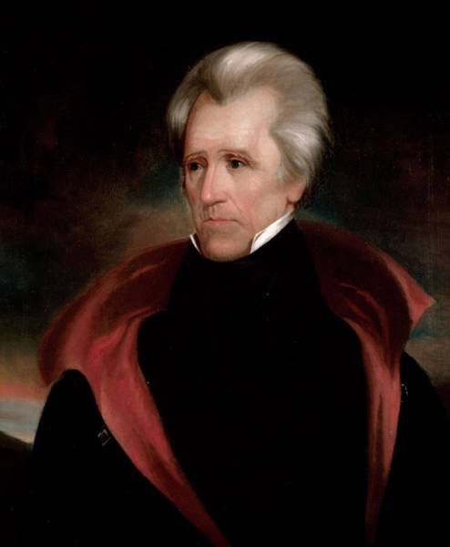 Wall Art - Painting - Andrew Jackson, 1835 by Ralph Eleaser Whiteside Earl