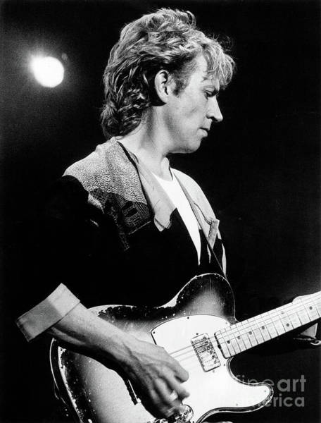 Photograph - Andy Summers 1984 by Russell Brown