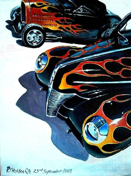Wall Art - Painting - Andy Volpini At Bonneville by Richard John Holden RA