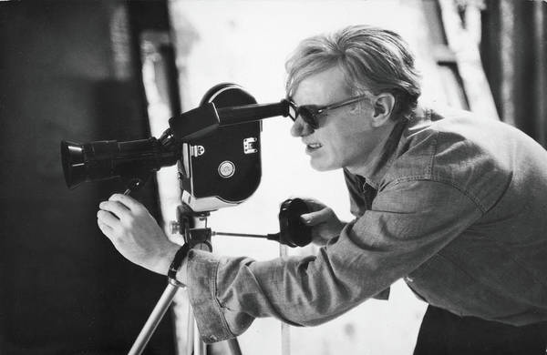 Photograph - Andy Warhol Lines Up A Shot by Fred W. McDarrah