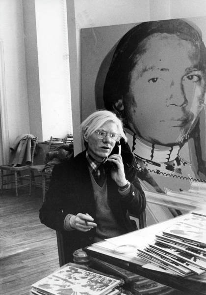 Warhol Photograph - Andy Warhol On The Phone by Fred W. McDarrah