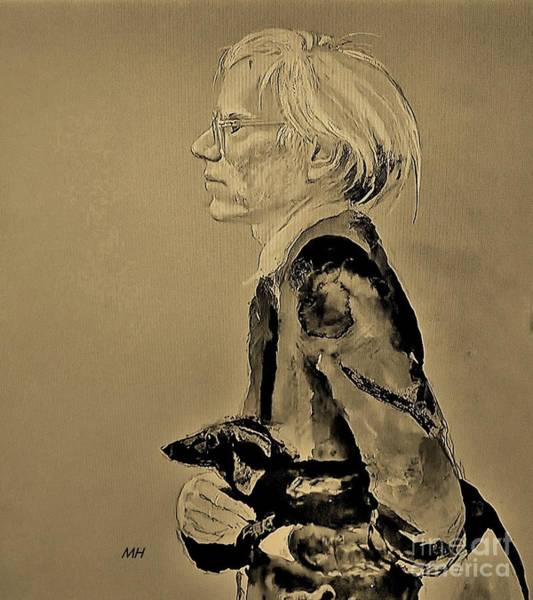 Wall Art - Photograph - Andy Warhol Painted By Jamie Wyeth by Marsha Heiken