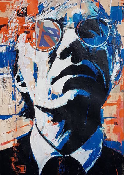 Wall Art - Painting - Andy Warhol by Paul Lovering