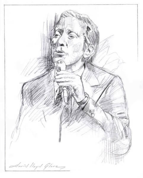 Drawing - Andy Williams by David Lloyd Glover