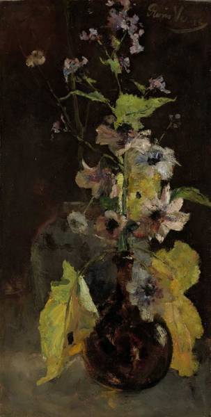 Wall Art - Painting - Anemones, Floris Verster, 1888 by Anemones