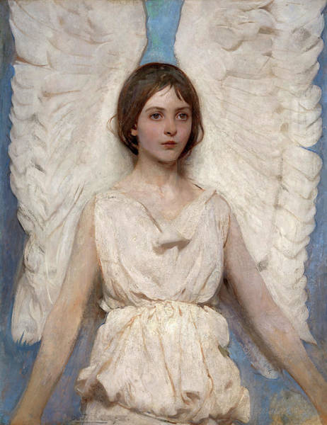 Wall Art - Painting - Angel, 1887 by Abbott Handerson Thayer