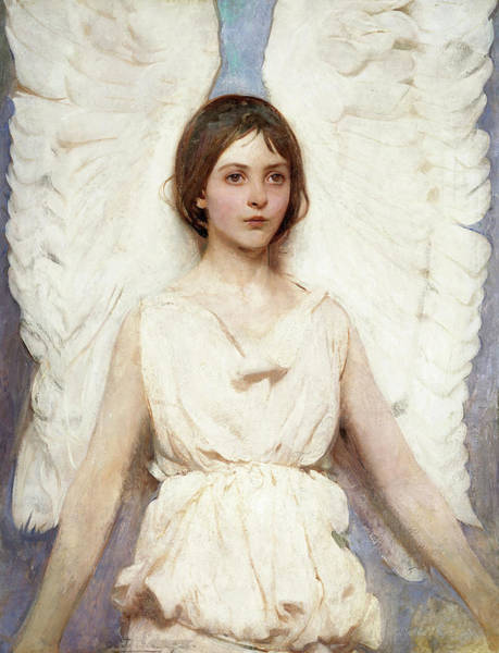 Wall Art - Painting - Angel, 1889 by Abbott Handerson Thayer