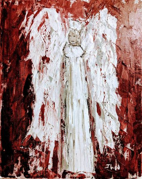 Angel Against Violence Art Print