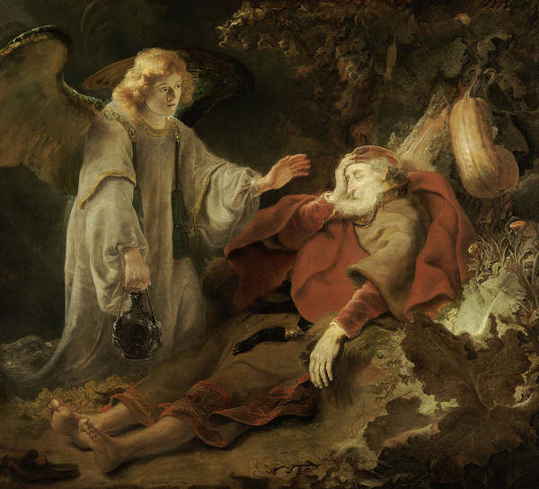 Wall Art - Painting - Angel Appearing To Elijah by Ferdinand Bol