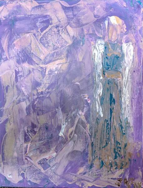 Painting - Angel Behind The Veil by Jennifer Nease