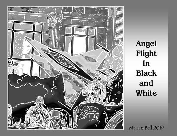 Wall Art - Digital Art - Angel Flight In Black And White by Marian Bell