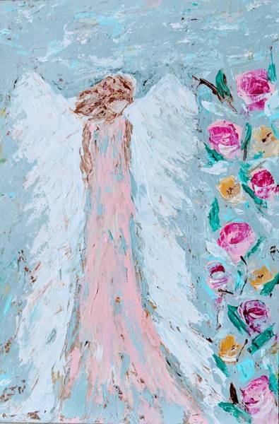 Painting - Angel For Childbirth And by Jennifer Nease