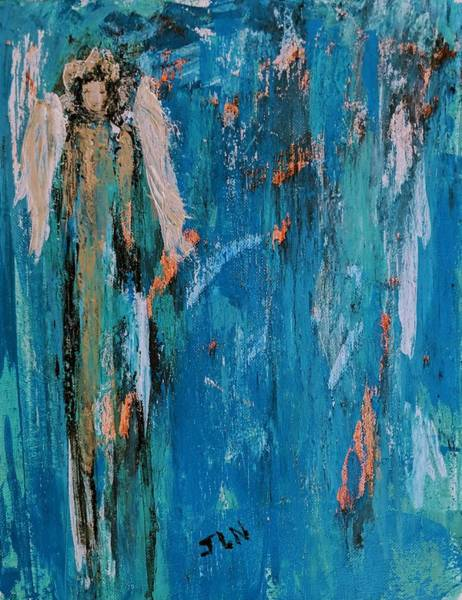 Painting - Angel In A Lightning Storm by Jennifer Nease