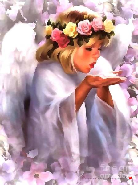 Painting - Angel In Acrylic by Catherine Lott