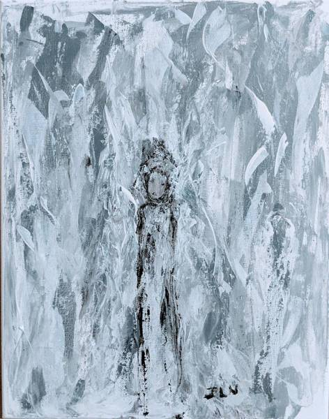 Painting - Angel In The Midst Of Turmoil by Jennifer Nease