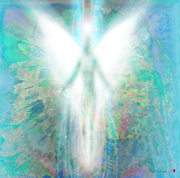Digital Art - Angel In The Mix by Catherine Lott