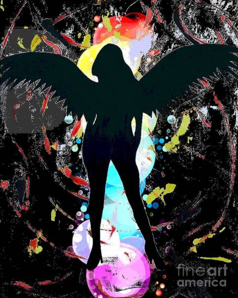 Digital Art - Angel by Jessie Art