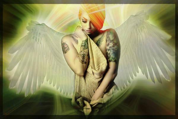 Digital Art - She Talks To Angels by Marilyn Wilson